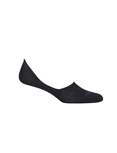 Icebreaker Merino Damen Lifestyle Fine Gauge No Show Socks sportliche Strümpfe, schwarz, Large