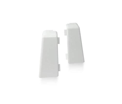 KGM Außenecke für Mega Sockelleiste | Inhalt 2 Stück ✓einfache Fussleisten Montage ✓saubere Ecken | passend für Mega Laminatleiste weiß | Mega Außenecken weiß aus Kunststoff