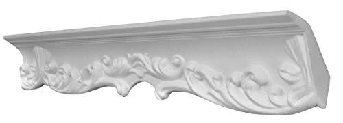 DECOSA Zierprofil G40 GIUSEPPINA - 10 Leisten à 2 m Länge = 20 m - Edle Stuckleiste in Weiß - Zierleiste aus Styropor 55 x 85 mm - Für Decke oder Wand