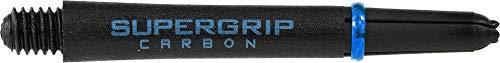 Harrows Supergrip Carbon Schäfte – 5 Sets (15 Stück), Black/Aqua, m