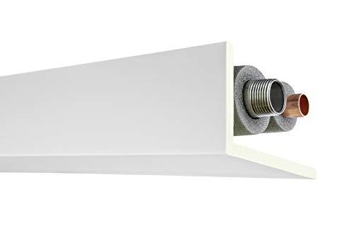 Stuckleiste AB298 | glatte vorgrundierte Oberfläche | Rohr- und Kabelabdeckleiste | Zierprofil | weiß | stabil | PU | 90 x 160 mm | 2 Meter