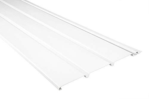 Kunststoffpaneele | weiß | Dachkasten | umweltresistent | Unterdach | PVC | außen | Verkleidung | Soffit | 200 x 30 cm