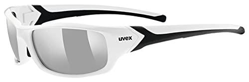 uvex Unisex– Erwachsene, sportstyle 211 Sportbrille, white black/silver, one size