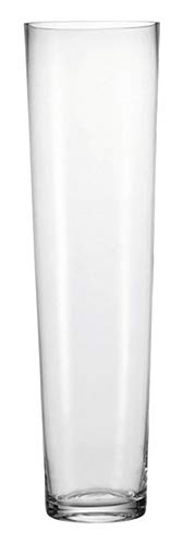 Leonardo Konische Vase, 1,45 l, Höhe 70 cm, Klarglas mit massivem Eisboden, 029557