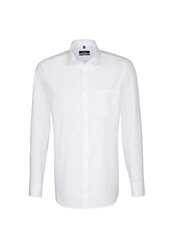 Seidensticker Herren Comfort Passform Bügelfrei Businesshemd, Weiß (Weiß 01), XX-Large (Herstellergröße: 46)