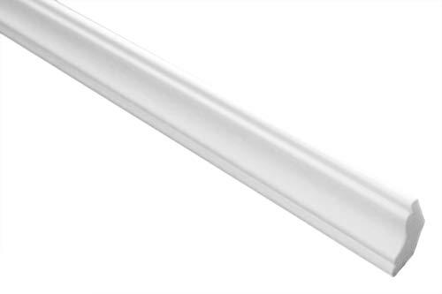 Zierleisten Sparpaket E-23 | leicht und stabil | extrudiertes Styropor | Stuckprofile | Decken-/ und Wandübergang | modern weiß | dekorativ | XPS | 22 x 22 mm | 50 Meter