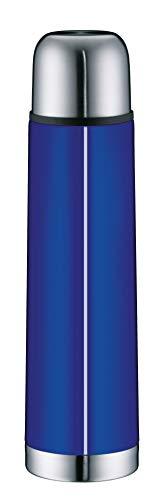 alfi Thermosflasche Edelstahl blau 750ml, isoTherm Eco, Isolierflasche mit Trinkbecher, 5457.255.075 Trinkflasche auslaufsicher, Drehverschluss, dicht, Thermoskanne 12 Stunden heiß, 24 Stunden kalt