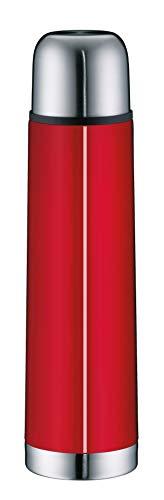 alfi Thermosflasche Edelstahl rot 750ml, isoTherm Eco, Isolierflasche mit Trinkbecher, 5457.202.075 Trinkflasche auslaufsicher, Drehverschluss, dicht, Thermoskanne 12 Stunden heiß, 24 Stunden kalt