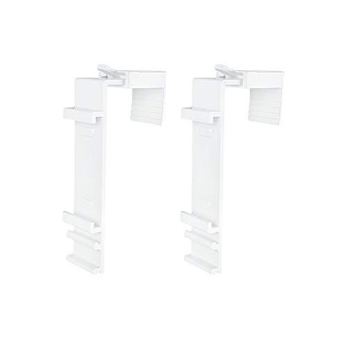 Victoria M. Klemmhalter für Klemmfix Doppelrollo für 15-23 mm Fensterflügel, 2er Set, weiß
