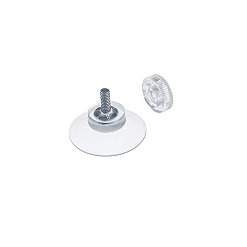 DIYexpert® 8 x Saugnapf Ø 30 mm mit Gewinde M4x10mm inkl. Rändelmuttern transparent - Made in Germany