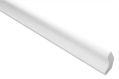 Zierleisten Sparpaket E-3 | leicht und stabil | extrudiertes Styropor | Stuckprofile | Decken-/ und Wandübergang | modern weiß | dekorativ | XPS | 22 x 25 mm | 50 Meter