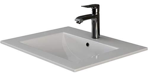 VILSTEIN© Keramik Einbau-Waschbecken Einsatz-Waschbecken Waschtisch Becken Handwaschbecken 62 cm