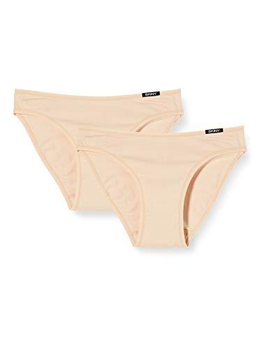 Skiny Damen Advantage Cotton Rio Brazilian Slip, Elfenbein (Skin 9622), 40 (2er Pack)