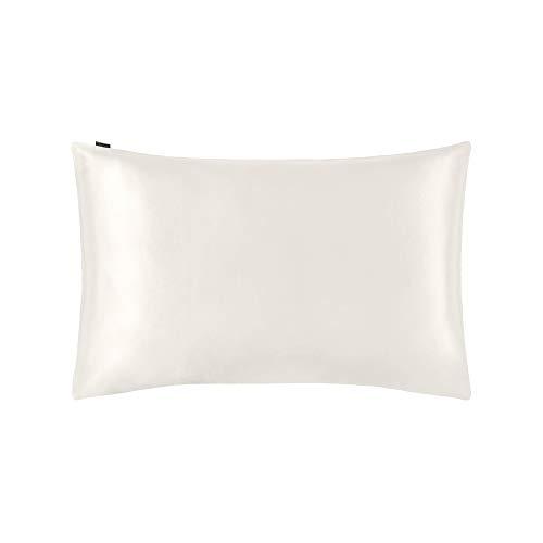 LilySilk Seide Kopfkissenbezug Kissenbezug Kissenhülle Seidenkissenbezug mit Hotelverschluss 1 Stück aus 100% hochwertigster 25 Momme Maulbeerseide (Elfenbein, 40x80cm) Verpackung MEHRWEG