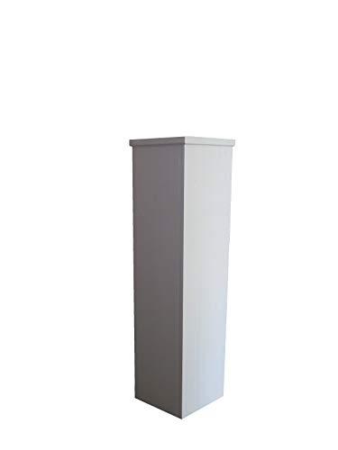 Wolkenstube Dekosäule weiß 80x20x20cm, Säule, Podest