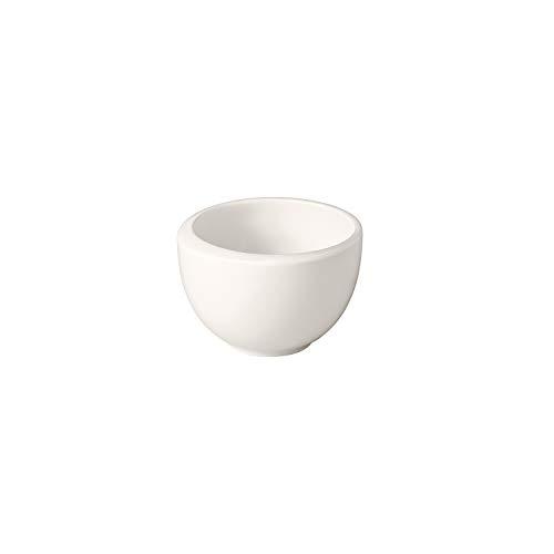 Villeroy und Boch - NewMoon Mokka-/Espressobertasse, moderne Espressotasse ohne Henkel aus Premium Porzellan, spülmaschinengeeignet, weiß, 90 ml