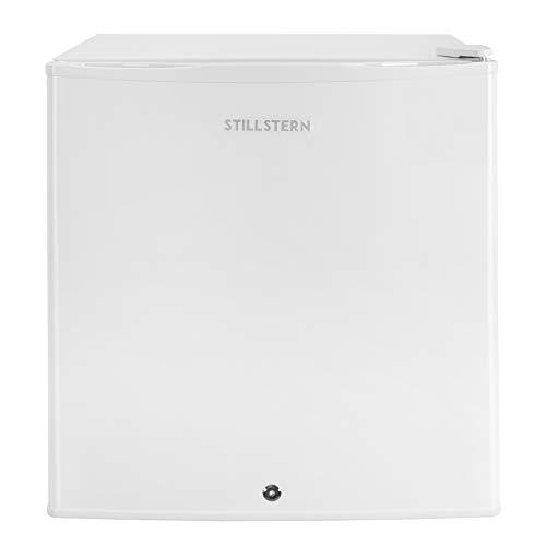 Mini-Kühlschrank mit Schloss A++ (43 Liter) und Abtauautomatik, LED-Innenbeleuchtung, Türablagen, Leise, Minibar, Kühlbox, Getränkekühlschrank