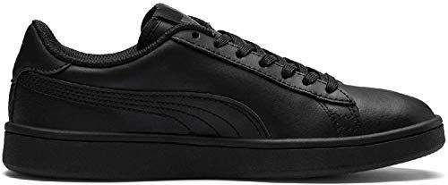 Puma Unisex-Kinder Smash v2 L Jr Sneaker, Schwarz Black Black, 38.5 EU