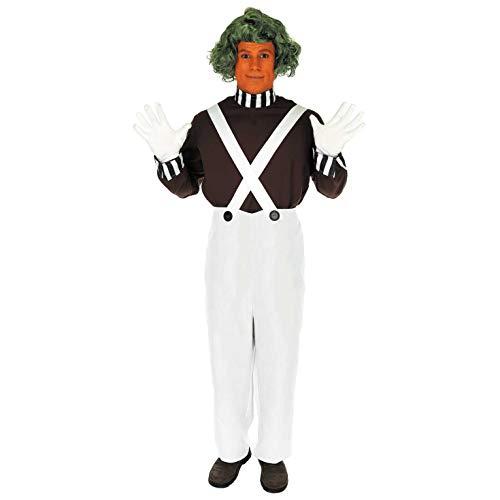 Fun Shack Braunes Schokoladenfabrik Arbeiter Kostüm für Herren, Karneval und Halloween - M