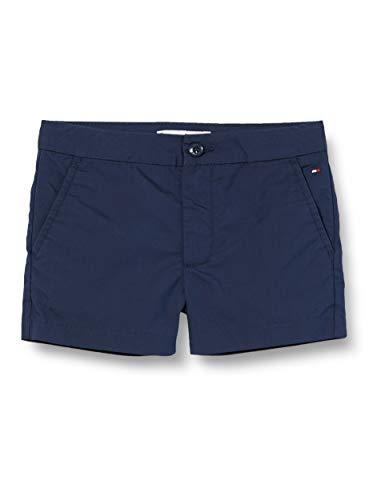 Tommy Hilfiger Mädchen Th Cool Essential Woven Short, Blau (Twilight Navy C87), Jahre (Herstellergröße: 10)