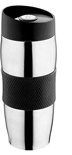 Thermobecher Kaffee To Go Becher Edelstahl 400ml Schwarz   Auslaufsicher Spülmaschinenfest   Isolierbecher Kaffeebecher Thermo