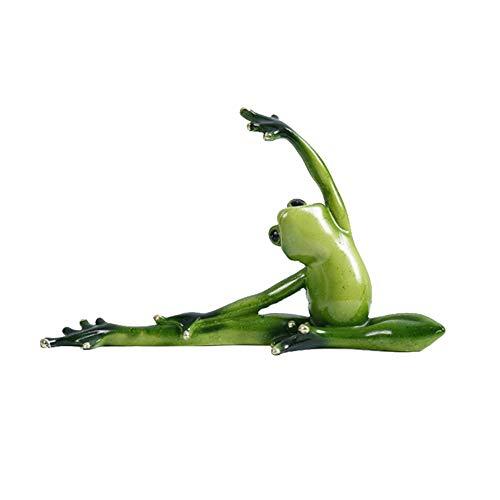 Henreal Dekofiguren, Kunstharz, Frosch, Grün, Yoga, für Wohnzimmer Schlafzimmer, C