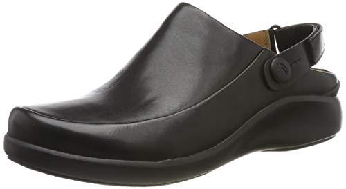 Clarks Damen Un.Loop2 Strap Slipper, Schwarz (Black Leather Black Leather), 39 EU