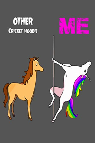 Other Cricket hoodie: Notebook Gift Idea Lined pages, 6.9 inches,120 pages, White paper Journal
