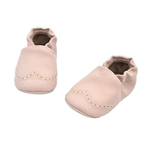 DEBAIJIA Weiches Leder Baby Jungen Mädchen Schuhe Wildleder Kleinkinder Schuhe Weiche Sohle rutschfeste Mode Lässig Prewalker Schuhe Geeignet für 6-18 Monate Kleinkind Slip-On-Verschluss