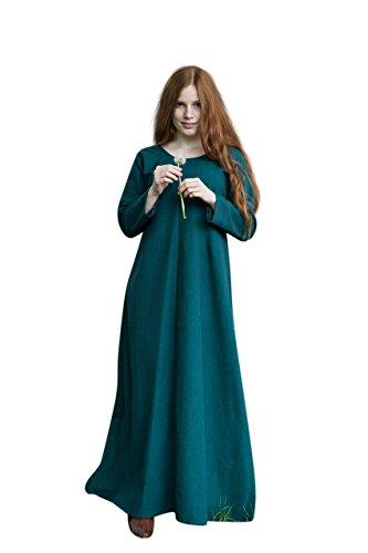 Mittelalter Unter Kleid Freya grün Kostüm Zubehör Baumwolle - XL