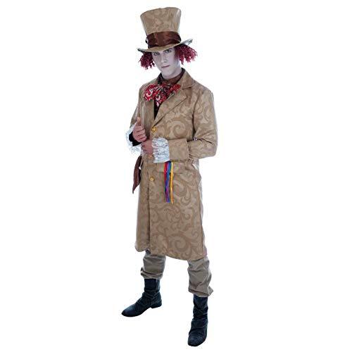 Fun Shack Braunes Hutmacher Kostüm für Herren, Film Charakter Faschingskostüm Erwachsene - XL