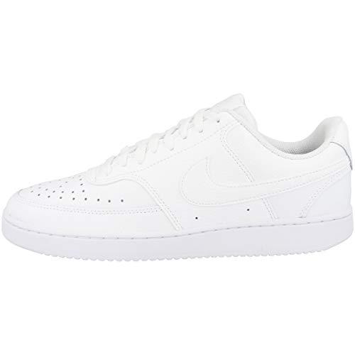 Nike Herren Court Vision Lo Sneaker, White/White-White, 46 EU