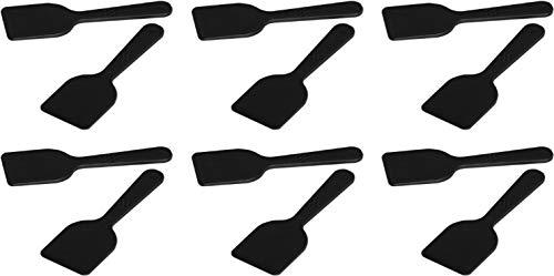 FACKELMANN Raclette-Spachtel Set, Raclette-Schaber aus Kunststoff, hochwertiger Racletteschieber, Schaufel für Raclette-Pfännchen, Raclette-Zubehör (Farbe: Schwarz), Menge: 12 Stück
