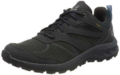 Jack Wolfskin Damen Woodland Texapore Low W Outdoorschuhe, Ebony/Blue, 41 EU
