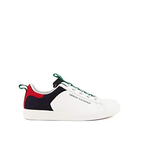 Armani Exchange Herren Berlin Casual Low TOP Sneaker, Opt.White+Multicolor, 42 EU