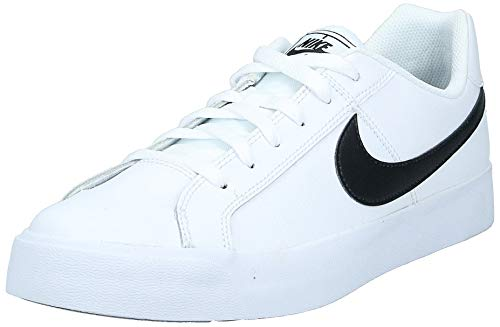 Nike Mens Court Royale AC Sneaker, White/Black, 43 EU