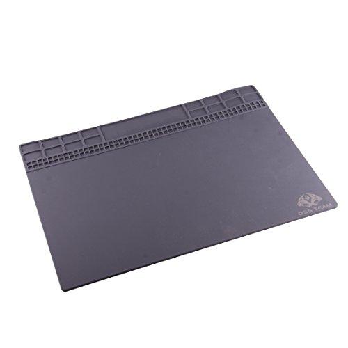 JIXIAO Arbeitsmatte OSS Team Wartungsplattform Hochtemperaturhitzebeständige magnetische antistatische Reparatur Isolierauflage Silikonmatten, Größe: 35 x 25 cm (Grau) (Farbe : Grey)