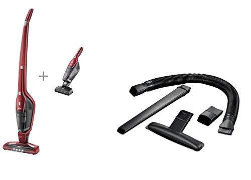 AEG CX7-2-45AN 2in1 Akku-Staubsauger + AKIT360 + Erweiterungsset (beutellos, inkl. Tierhaardüse, bis zu 45 Min., freistehend, 180° Drehgelenk, Bürstenreinigungsfunktion, LED-Frontlichter, rot)