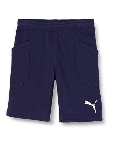 PUMA Kinder Liga Casuals Shorts Jr Hose, Peacoat-Puma White, 128