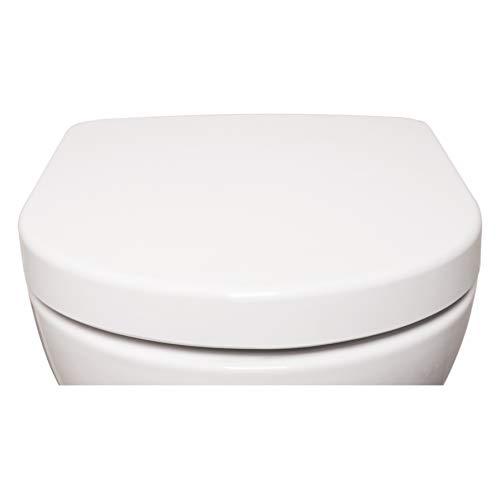 Bullseat 4.1 WC Sitz weiß D-Form • Absenkautomatik/Softclose • abnehmbar • easyclean • Toilettendeckel überlappend • Klobrille • hochwertiges Duroplast