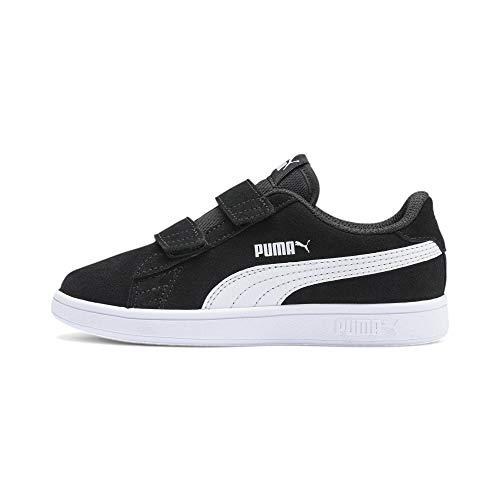 PUMA Unisex Kinder Smash v2 SD V PS Sneaker, Black White, 31 EU