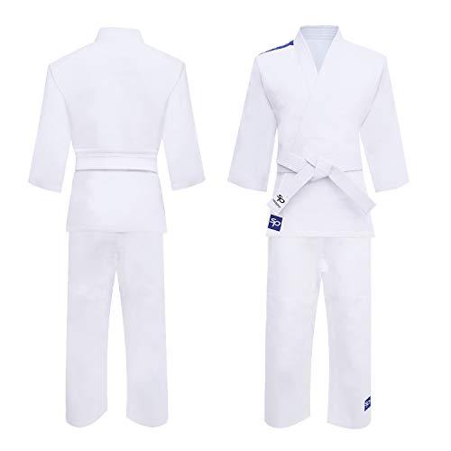 Starpro Judo Gi 250 Gramm   Premium Baumwollmischung   Weiß   Professioneller Judogi für Training und Wettkampf Männer Frauen & Kinder   100-170 cm   KOSTENLOSER weißer Gürtel inklusive