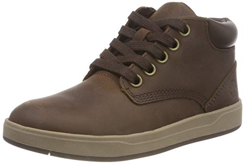 Timberland Unisex-Kinder Davis Square Leather Chukka Boots, Schwarz (Blackout Naturebuck), 33 EU