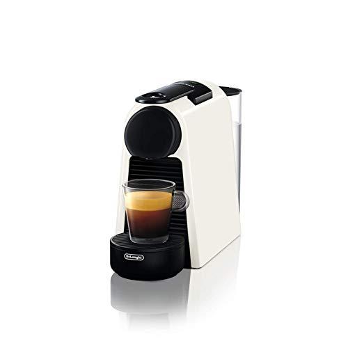 De'Longhi Nespresso Essenza Mini EN 85.W Kaffeekapselmaschine, Welcome Set mit Kapseln in unterschiedlichen Geschmacksrichtungen, 19 bar Pumpendruck, Platzsparend, Weiß