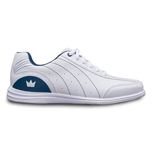 Brunswick Bowling Products Ladies Mystic Bowling Shoes- B US, White/Navy, 7