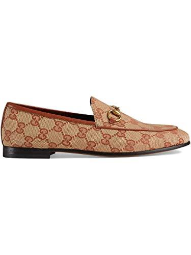 Gucci Luxury Fashion Damen 431467KY9808378 Beige Stoff Mokassins | Jahreszeit Permanent