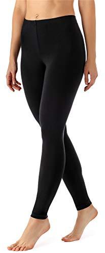 Merry Style Damen Lange Leggings aus Viskose MS10-143 (Schwarz, 4XL)