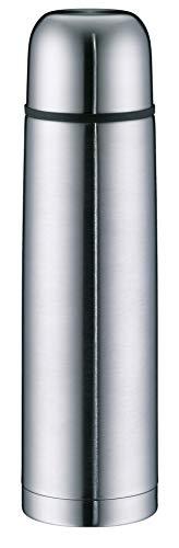 alfi 5457.205.100 Isolierflasche isoTherm Eco, Edelstahl mattiert, 1,0 Liter, Drehverschluss, 12 Stunden heiß, 24 Stunden kalt, BPA-Free