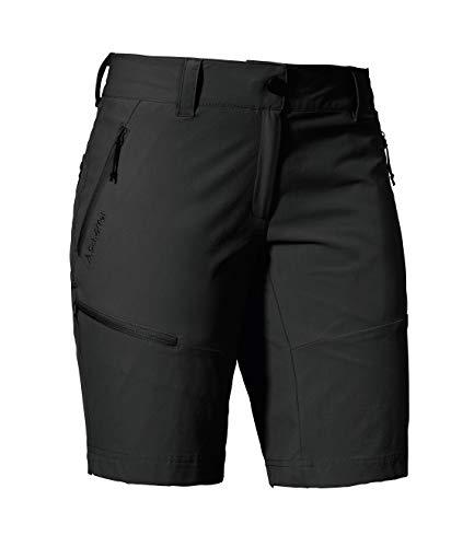 Schöffel Shorts Toblach2, leichte und kühlende kurze Wanderhose mit elastischem Stoff, vielseitige Outdoor Hose mit optimaler Passform und praktischen Taschen Damen, asphalt, 48