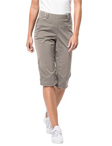Jack Wolfskin Damen Activate Light 3/4 Pants Elastisch Atmungsaktiv Wasserabweisend Outdoor Softshell Hose, Moon Rock, 38